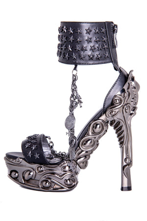 Hades Alternative Shoes Avius Black High Heels-High Heels-Hades Alternative Shoes-Unspoken Fashion