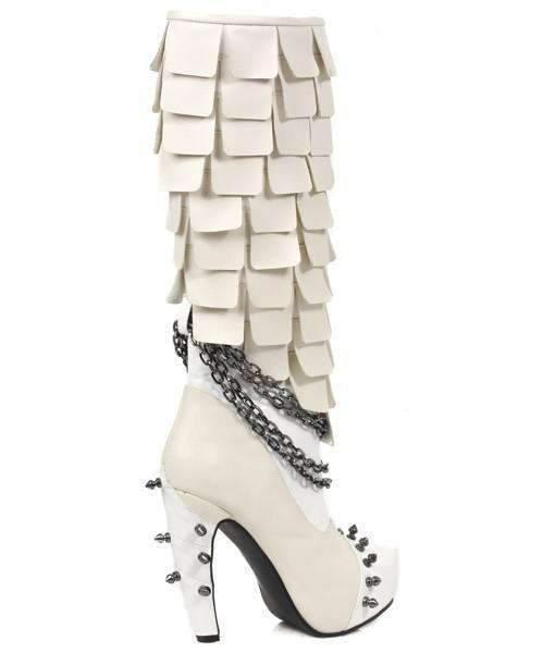 Hades Alternative Shoes Caymene White Boots-Boots-Hades Alternative Shoes-Unspoken Fashion