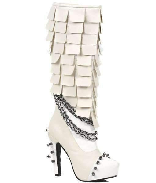 Hades Alternative Shoes Caymene White Boots-Boots-Hades Alternative Shoes-6-White-Unspoken Fashion