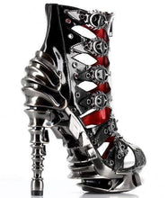 Load image into Gallery viewer, Hades Alternative Shoes Crimson Black High Heels-High Heels-Hades Alternative Shoes-Unspoken Fashion