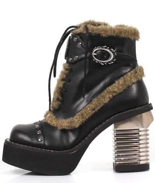 Hades Alternative Shoes Daire Black Ankle Boots-Boots-Hades Alternative Shoes-Unspoken Fashion