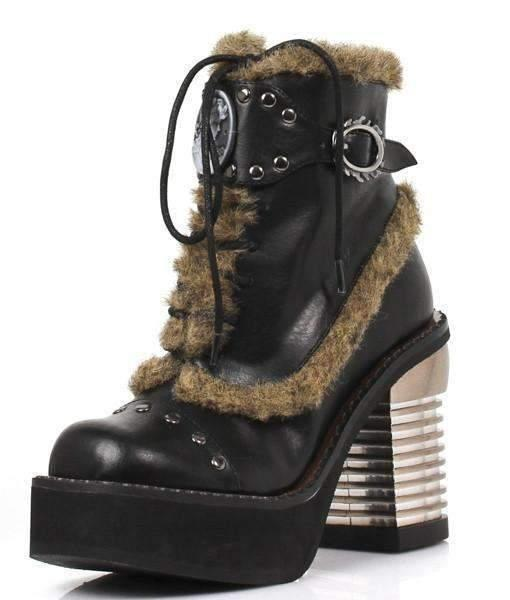 Hades Alternative Shoes Daire Black Ankle Boots-Boots-Hades Alternative Shoes-6-Black-Unspoken Fashion