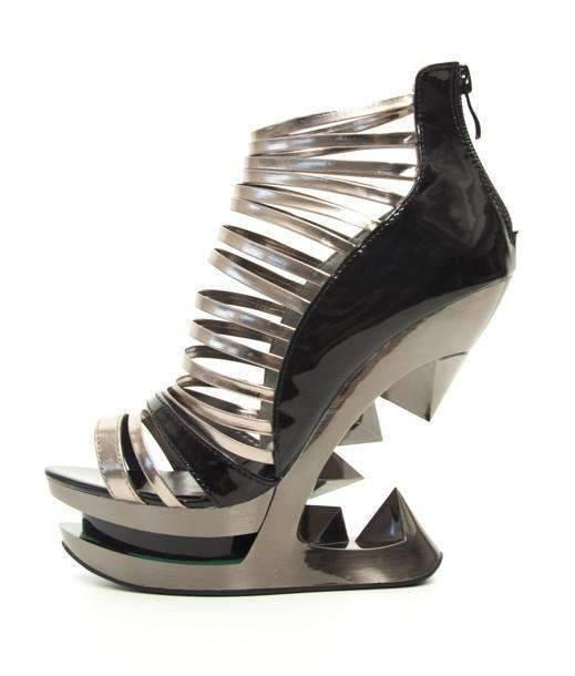 Hades Alternative Shoes Discor Black Wedges-High Heels-Hades Alternative Shoes-6-Black-Unspoken Fashion