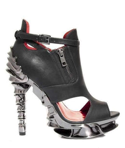 Hades Alternative Shoes Draco Black High Heels-High Heels-Hades Alternative Shoes-6-Black-Unspoken Fashion