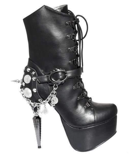 Hades Alternative Shoes Envy Black Boots-Boots-Hades Alternative Shoes-6-Black-Unspoken Fashion