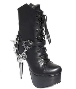 Hades Alternative Shoes Envy Black Boots-Boots-Hades Alternative Shoes-Unspoken Fashion
