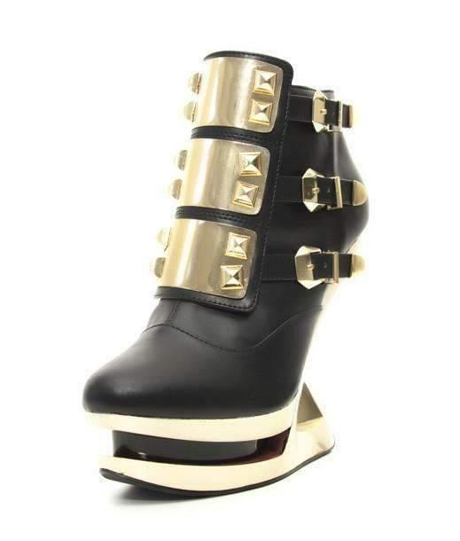 Hades Alternative Shoes Gleam Black Boots-Boots-Hades Alternative Shoes-Unspoken Fashion