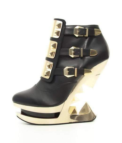 Hades Alternative Shoes Gleam Black Boots-Boots-Hades Alternative Shoes-6-Black-Unspoken Fashion