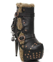 Load image into Gallery viewer, Hades Alternative Shoes Griffin Black Boots-Boots-Hades Alternative Shoes-6-Black-Unspoken Fashion