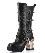 Load image into Gallery viewer, Hades Alternative Shoes Harajuku Black Boots-Boots-Hades Alternative Shoes-Unspoken Fashion