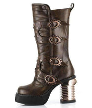 Load image into Gallery viewer, Hades Alternative Shoes Harajuku Brown Boots-Boots-Hades Alternative Shoes-6-Brown-Unspoken Fashion