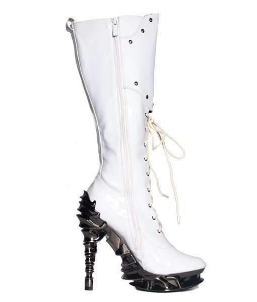 Hades Alternative Shoes Hyperion White Boots-Boots-Hades Alternative Shoes-Unspoken Fashion
