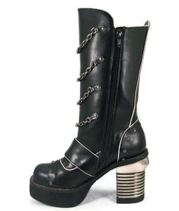 Hades Alternative Shoes Krull Black Boots-Boots-Hades Alternative Shoes-6-Black-Unspoken Fashion