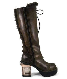 Hades Alternative Shoes Langdon Brown Boots-Boots-Hades Alternative Shoes-Unspoken Fashion