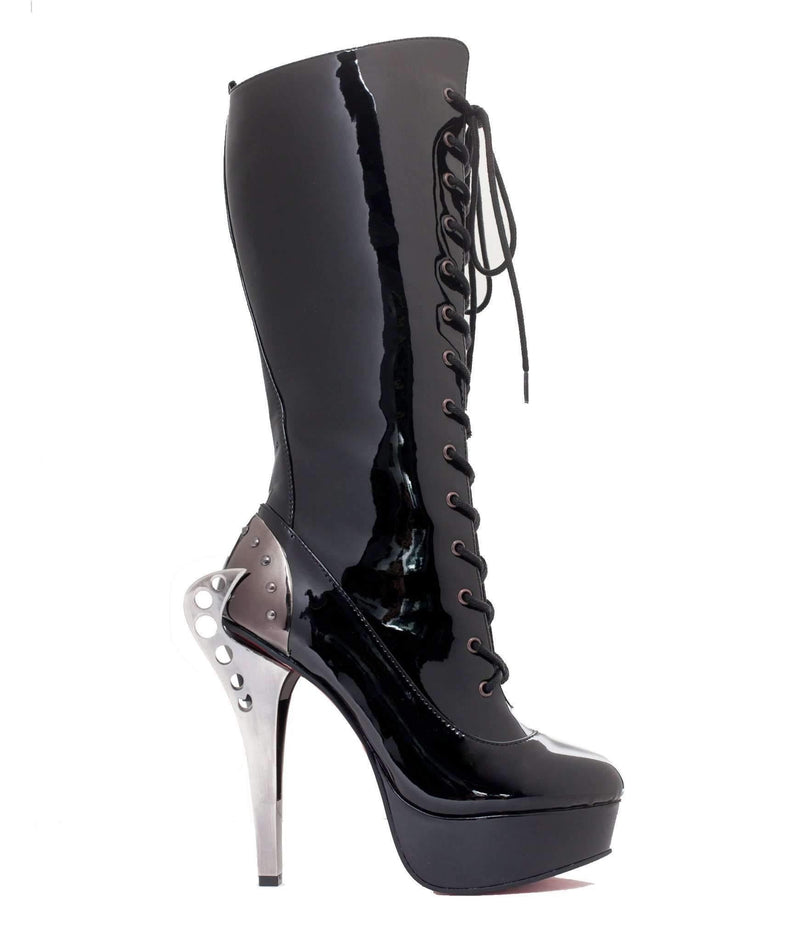 Hades Alternative Shoes Led Black Boots-Boots-Hades Alternative Shoes-Unspoken Fashion