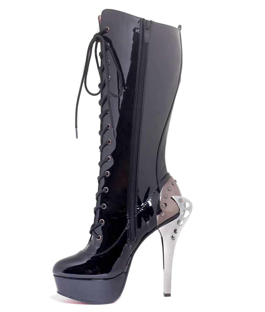 Hades Alternative Shoes Led Black Boots-Boots-Hades Alternative Shoes-6-Black-Unspoken Fashion