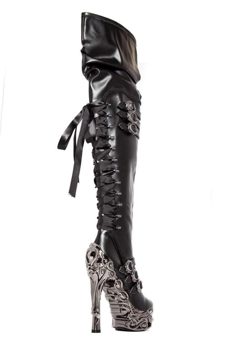 Hades Alternative Shoes Lokie Black Boots-Boots-Hades Alternative Shoes-Unspoken Fashion