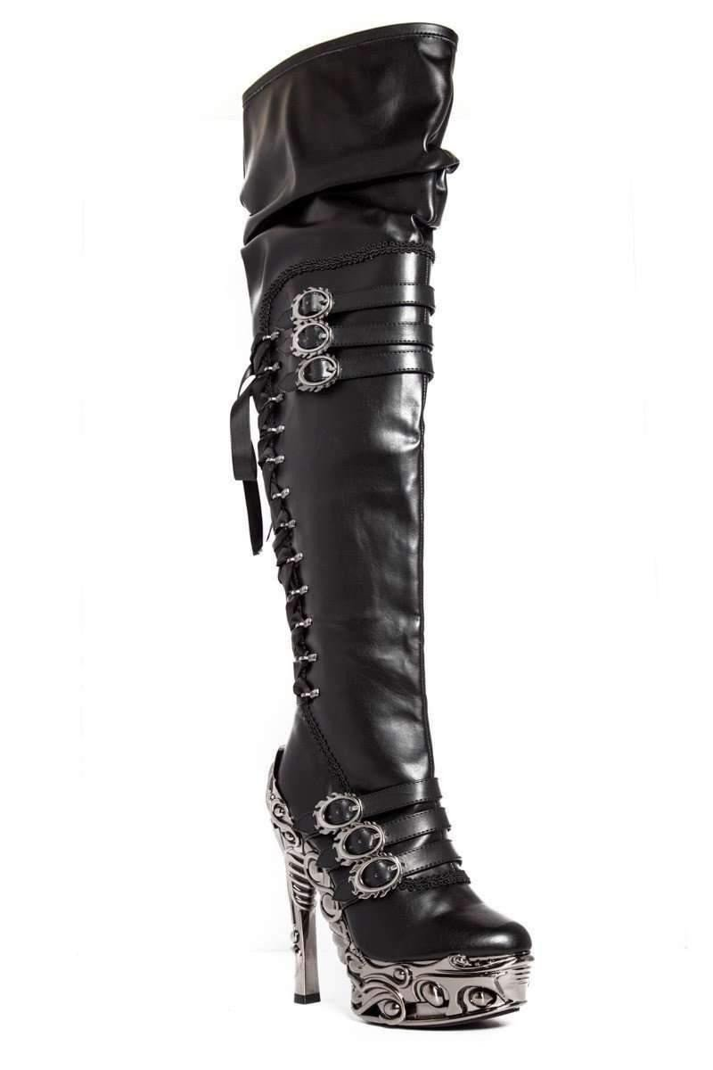 Hades Alternative Shoes Lokie Black Boots-Boots-Hades Alternative Shoes-6-Black-Unspoken Fashion