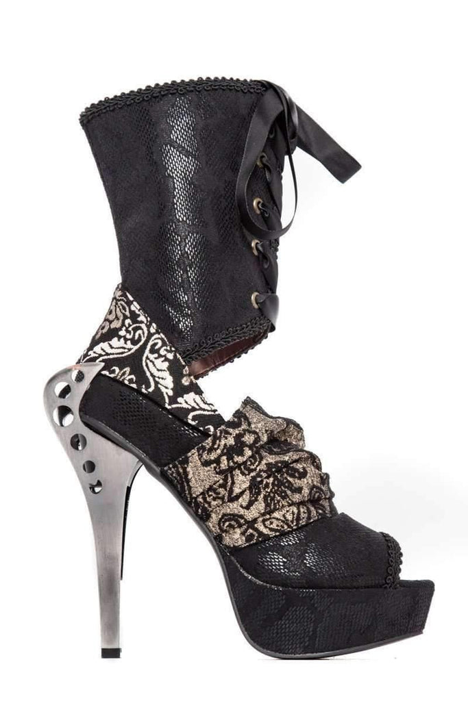 Hades Alternative Shoes Luna Black Boots-Boots-Hades Alternative Shoes-Unspoken Fashion