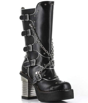 Hades Alternative Shoes Motorhead Black Boots-Boots-Hades Alternative Shoes-6-Black-Unspoken Fashion