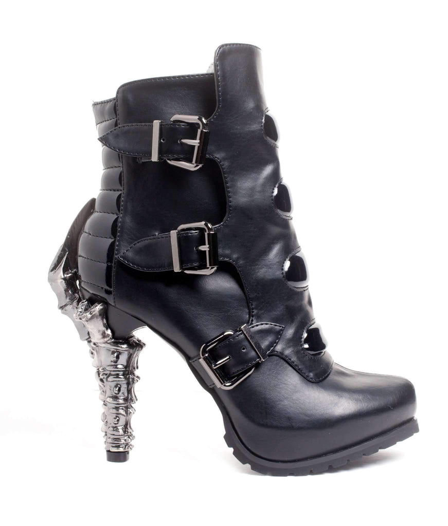Hades Alternative Shoes Neo Black Boots-Boots-Hades Alternative Shoes-6-Black-Unspoken Fashion