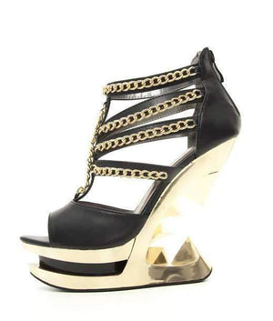 Hades Alternative Shoes Nika Black Wedges-High Heels-Hades Alternative Shoes-6-Black-Unspoken Fashion