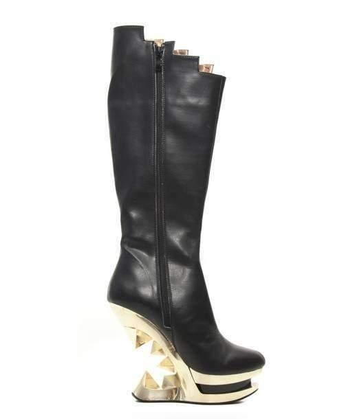 Hades Alternative Shoes Onyx Black Boots-Boots-Hades Alternative Shoes-Unspoken Fashion