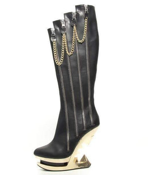 Hades Alternative Shoes Onyx Black Boots-Boots-Hades Alternative Shoes-6-Black-Unspoken Fashion