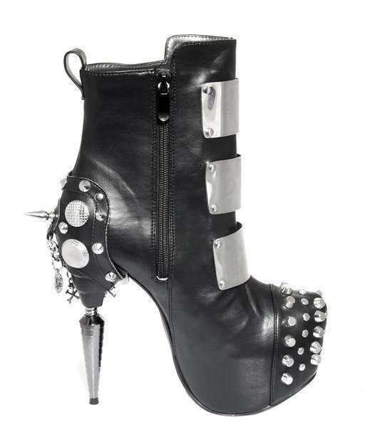 Hades Alternative Shoes Oracle Black Boots-Boots-Hades Alternative Shoes-Unspoken Fashion