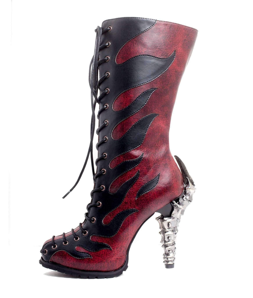 Hades Alternative Shoes Pyra Burgundy Boots-Boots-Hades Alternative Shoes-6-Burgundy-Unspoken Fashion