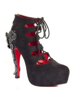 Hades Alternative Shoes Royale Black Boots-Boots-Hades Alternative Shoes-6-Black-Unspoken Fashion