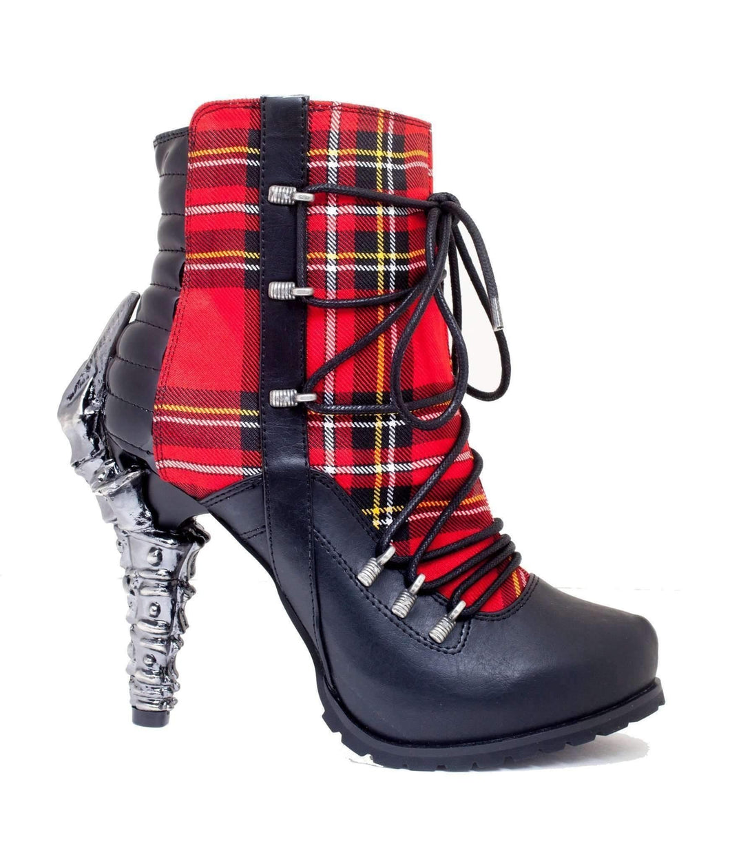 Hades Alternative Shoes Shade Red Boots-Boots-Hades Alternative Shoes-6-Red-Unspoken Fashion