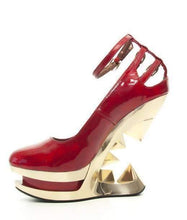 Load image into Gallery viewer, Hades Alternative Shoes Sheen Red Wedges-High Heels-Hades Alternative Shoes-Unspoken Fashion