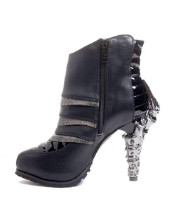 Hades Alternative Shoes Sidhe Black Boots-Boots-Hades Alternative Shoes-Unspoken Fashion