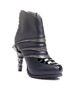 Hades Alternative Shoes Sidhe Black Boots-Boots-Hades Alternative Shoes-6-Black-Unspoken Fashion
