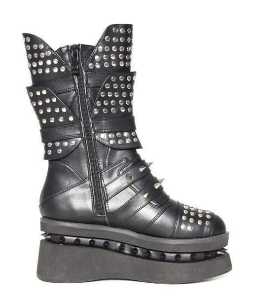 Hades Alternative Shoes Spektor Black Boots-Boots-Hades Alternative Shoes-Unspoken Fashion