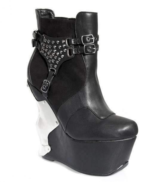 Hades Alternative Shoes Stallion Black Boots-Boots-Hades Alternative Shoes-Unspoken Fashion