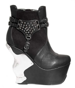 Hades Alternative Shoes Stallion Black Boots-Boots-Hades Alternative Shoes-6-Black-Unspoken Fashion