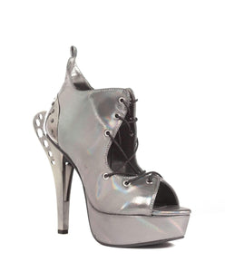 Hades Alternative Shoes Stellar Silver Sandals High Heels-High Heels-Hades Alternative Shoes-Unspoken Fashion