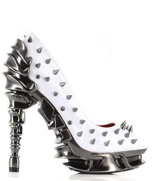 Hades Alternative Shoes Talon White High Heels-High Heels-Hades Alternative Shoes-6-White-Unspoken Fashion