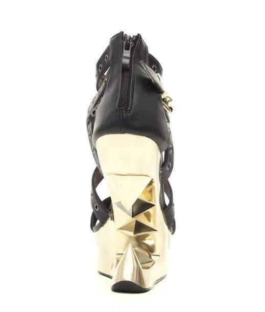 Hades Alternative Shoes Taunt Black Wedges-High Heels-Hades Alternative Shoes-Unspoken Fashion