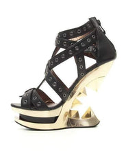 Load image into Gallery viewer, Hades Alternative Shoes Taunt Black Wedges-High Heels-Hades Alternative Shoes-Unspoken Fashion