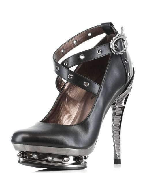 Hades Alternative Shoes Triton Black High Heels-High Heels-Hades Alternative Shoes-Unspoken Fashion