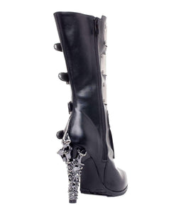 Hades Alternative Shoes Varga Black Boots-Boots-Hades Alternative Shoes-Unspoken Fashion