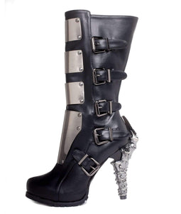 Hades Alternative Shoes Varga Black Boots-Boots-Hades Alternative Shoes-6-Black-Unspoken Fashion