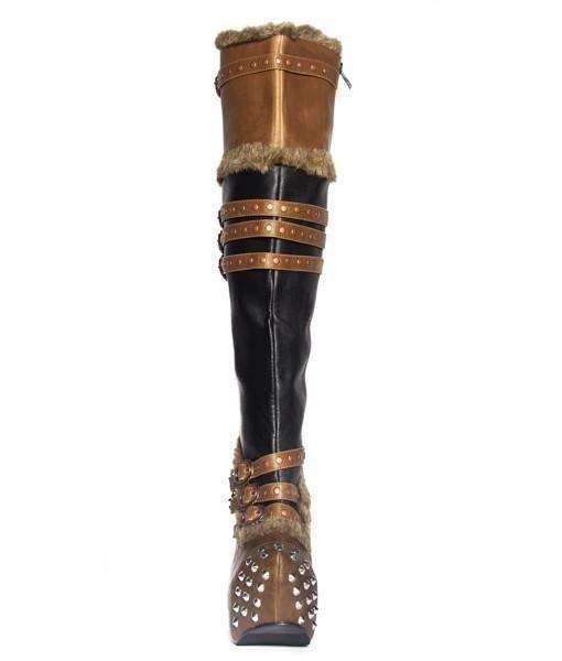 Hades Alternative Shoes Ventail Brown Boots-Boots-Hades Alternative Shoes-Unspoken Fashion