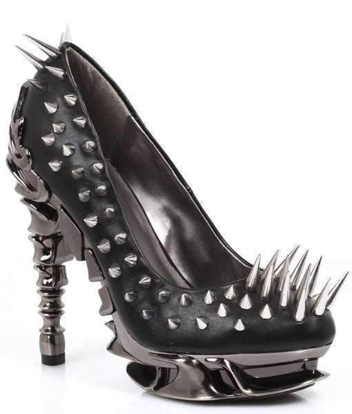 Hades Alternative Shoes Zetta Black High Heels-High Heels-Hades Alternative Shoes-6-Black-Unspoken Fashion