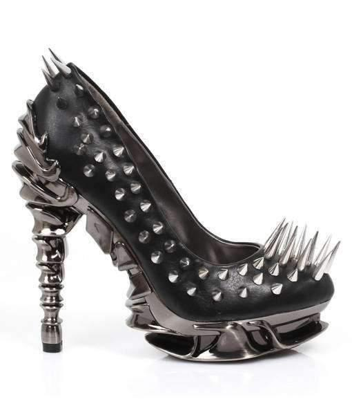 Hades Alternative Shoes Zetta Black High Heels-High Heels-Hades Alternative Shoes-Unspoken Fashion