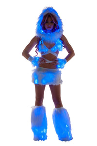 Rave FF430 Light Up Infinity Hood - J Valentine-Rave Accessories-J Valentine-White/Blue-ONE SIZE-Unspoken Fashion