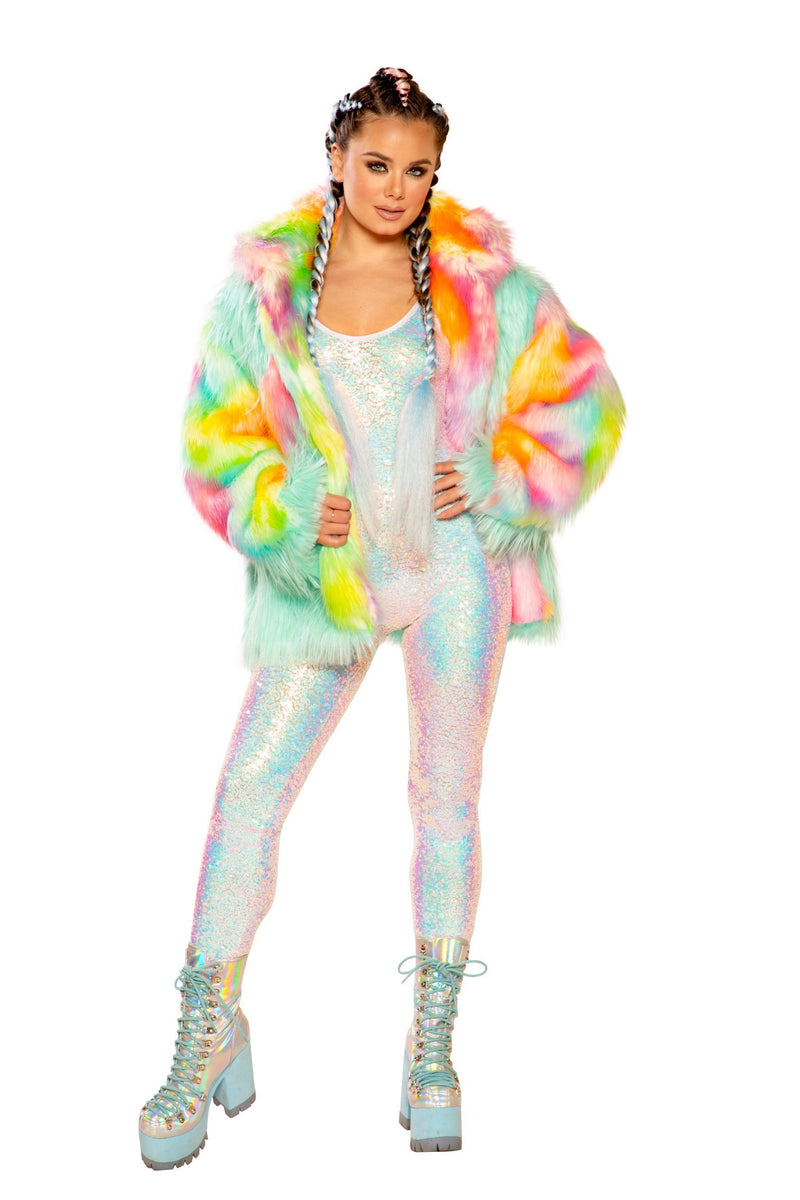 Rave FF937 - DIAMOND FAUX FUR COAT - J Valentine-Rave Coats & Dusters-J Valentine-Unspoken Fashion